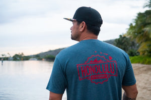 Men's HBW Logo T (Slate Blue/Red)