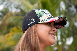 Curved Bill Aloha Print Hat
