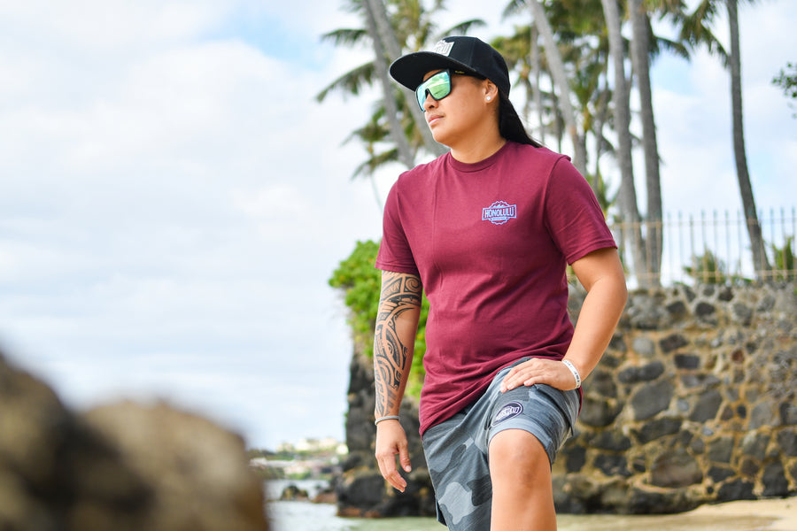 Men's HBW Logo T (Maroon/Blue)