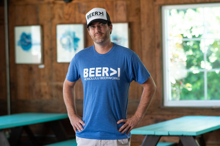 Men's BEER>I Blue T-Shirt