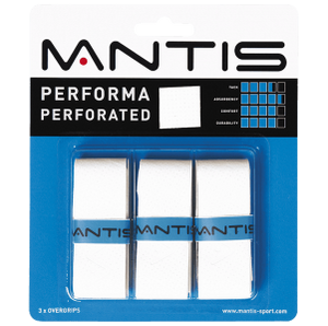 MANTIS Performa Perforated Overgrip - Pack of 3 - Independent tennis shop All Things Tennis