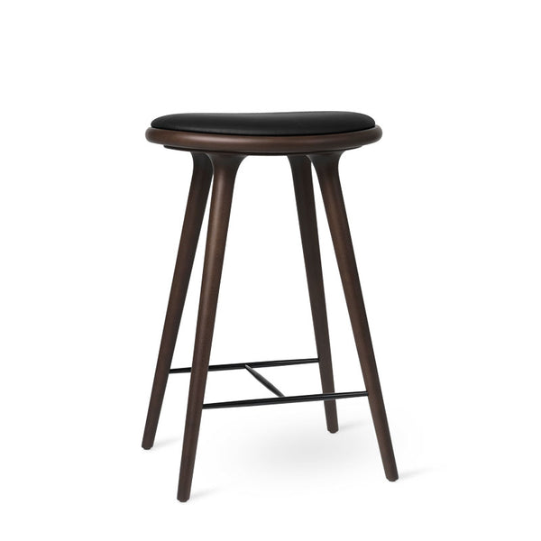 High Stool | Dark stained beech | 69 cm