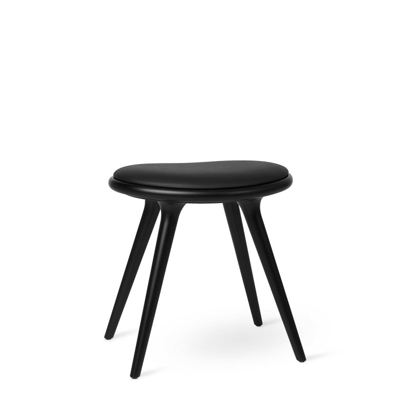Low Stool | Black stained beechwood | 47 cm