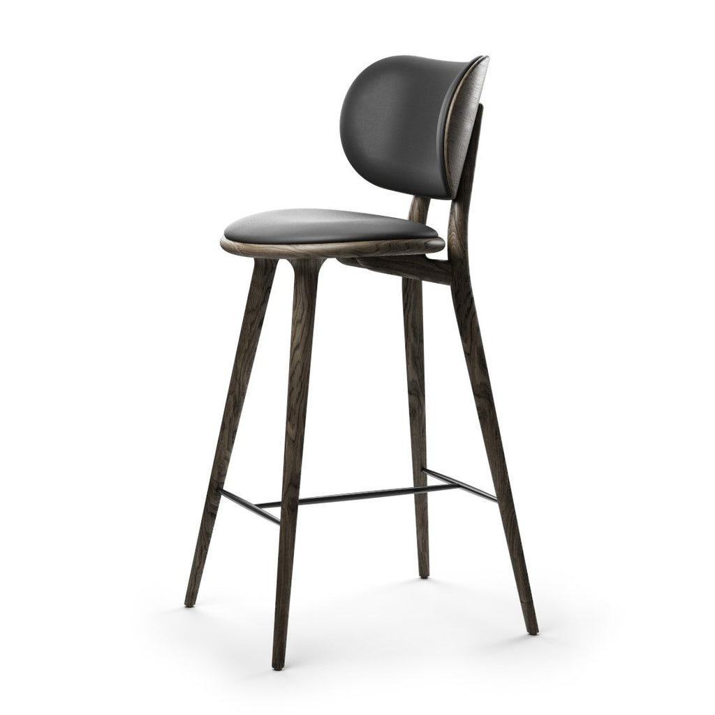 High Stool Backrest | Sirka grey oak | 74 cm