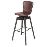 Shell Bar Stool | Ultra Black | 72 cm