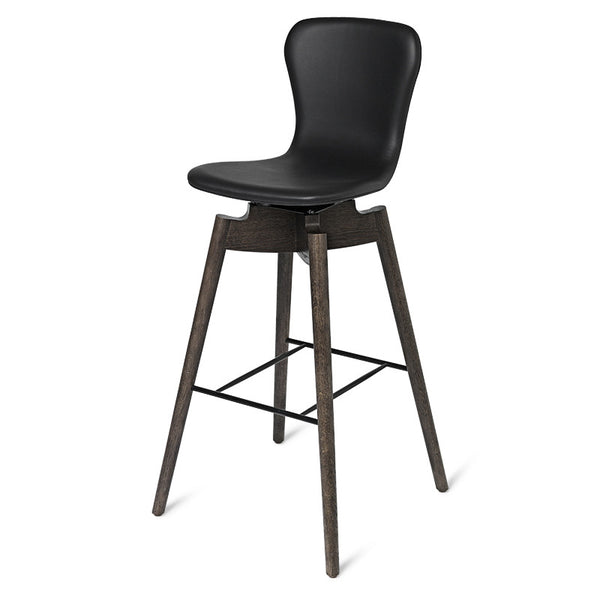 Shell Bar Stool | Ultra Black | 77 cm
