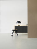 Low Stool | Black stained beech | 47 cm