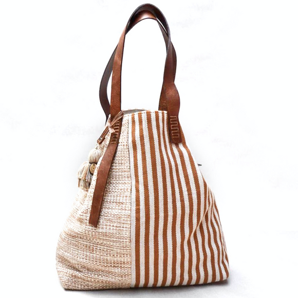 Striped bag (terra-cotta)