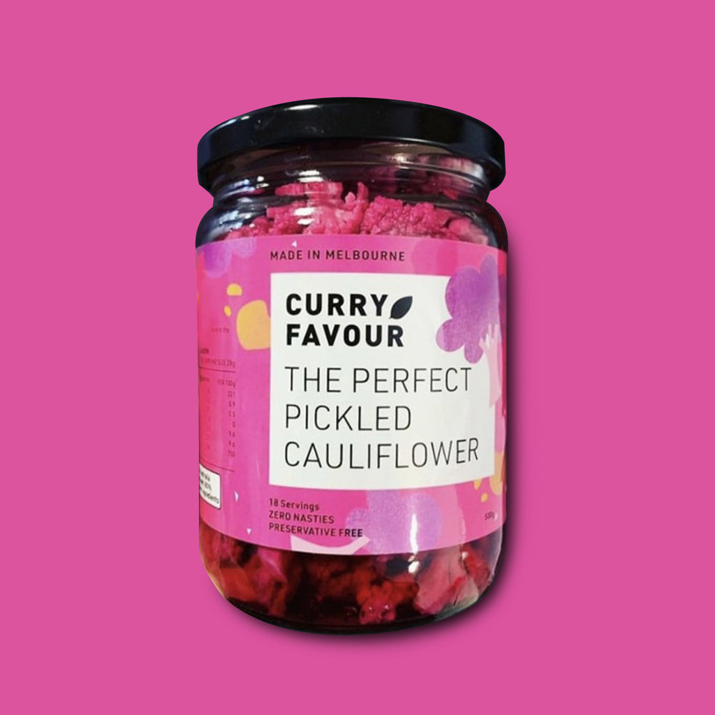 THE PERFECT PICKLED PURPLE CAULIFLOWER, 750g