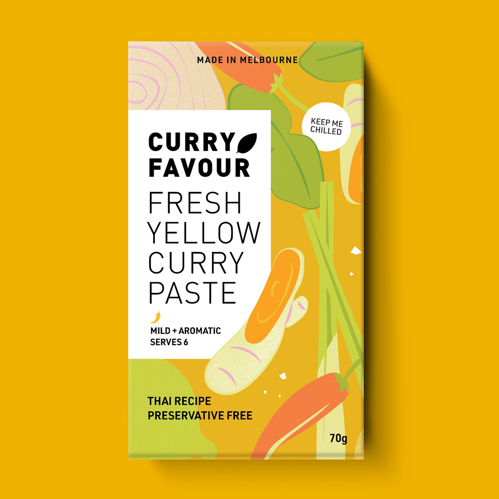 FRESH YELLOW THAI CURRY PASTE