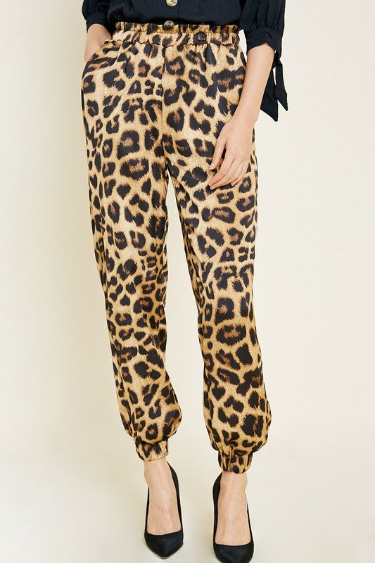 On The Prowl Leopard Joggers