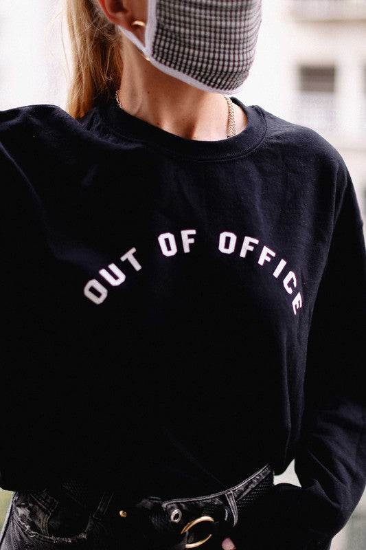 Out of Office Cropped Sweatshirt