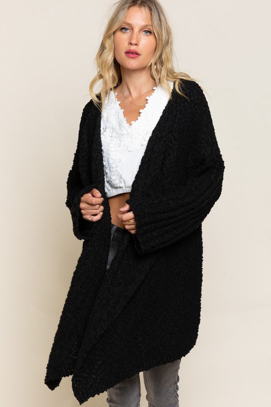 Pitch Black Perfect Cardigan