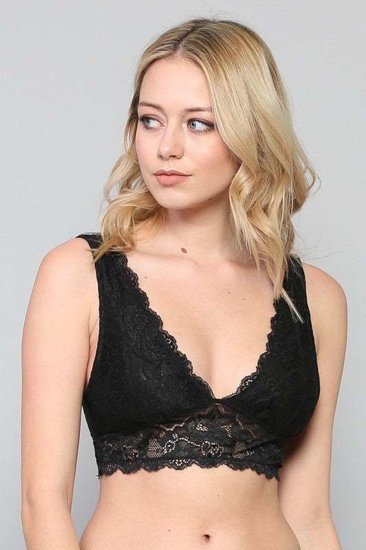 Plunging For Apples Lace Bralette
