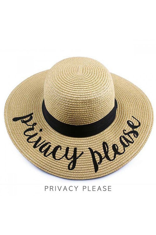 Privacy Please Beach Hat