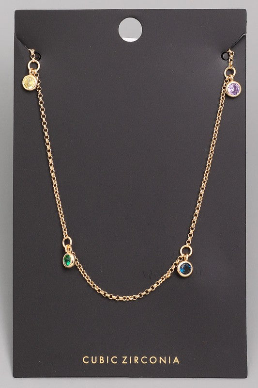 Rainbow Dainty Necklace