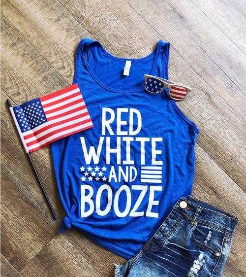 Red White & Boozed Top