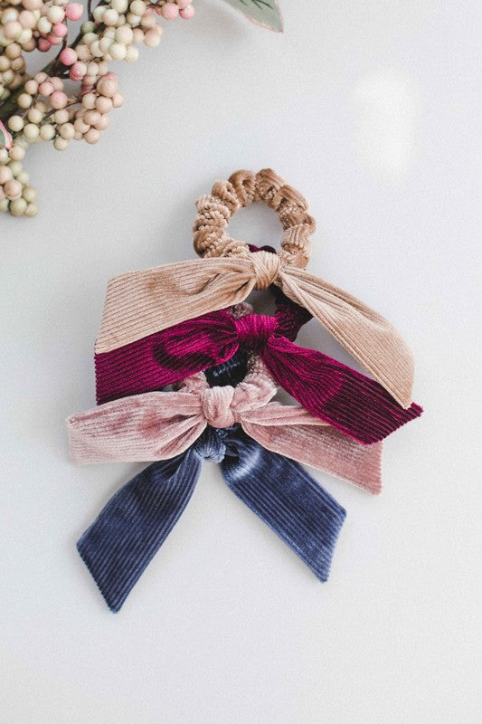 Ribbed Velvet Scrunchies (MULTIPLE COLORS)