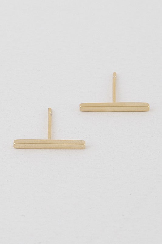 Simple Bar Stud Earrings