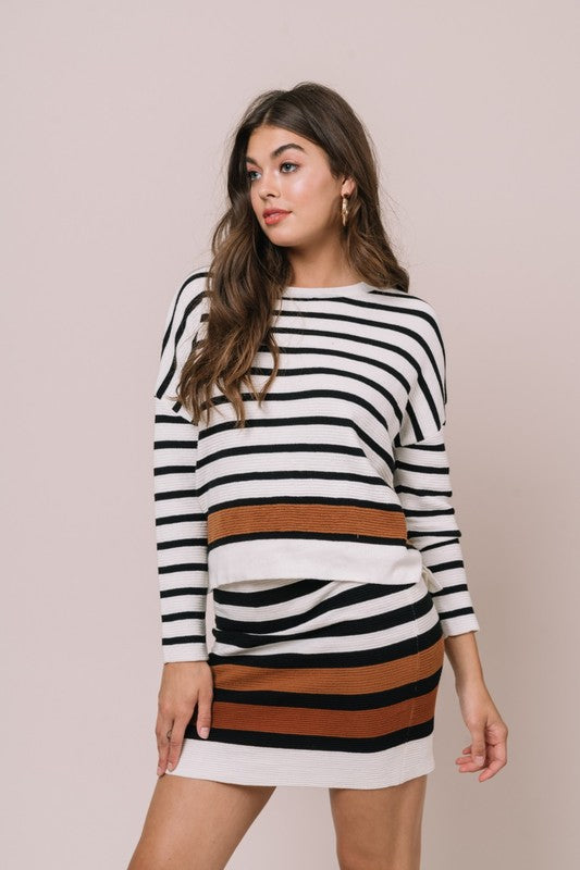Spice Stripe Knit Skirt