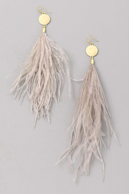 Taking Flight Feather Earrings