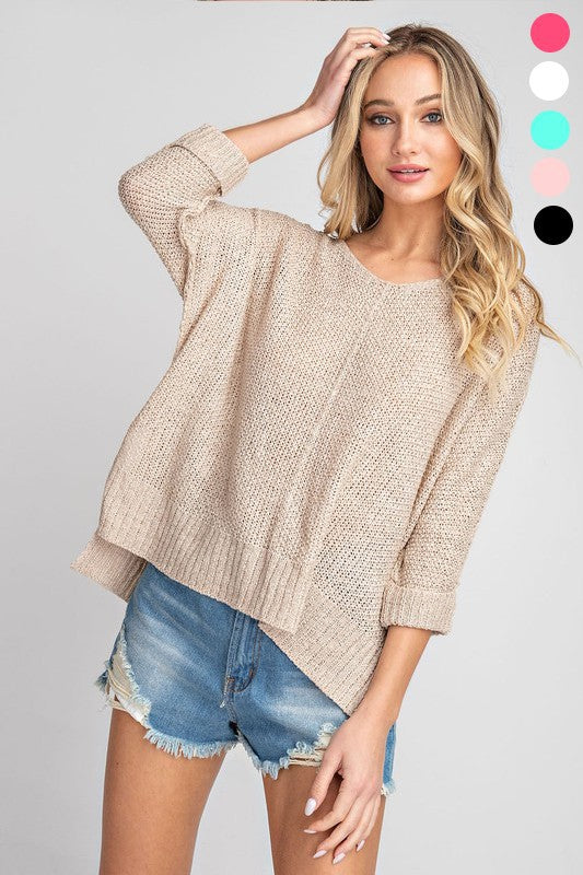 The Madi Lynn Sweater (MULTIPLE COLORS)