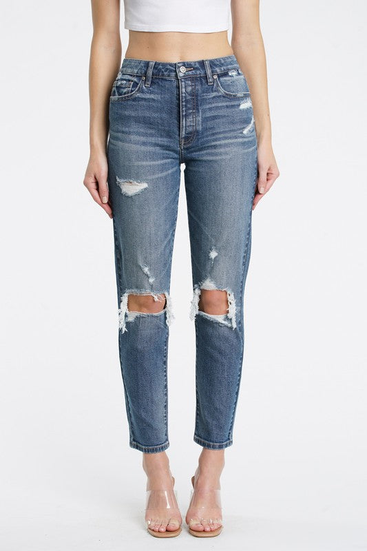 Tobi Super High Rise Mom Jean (Dystopian)