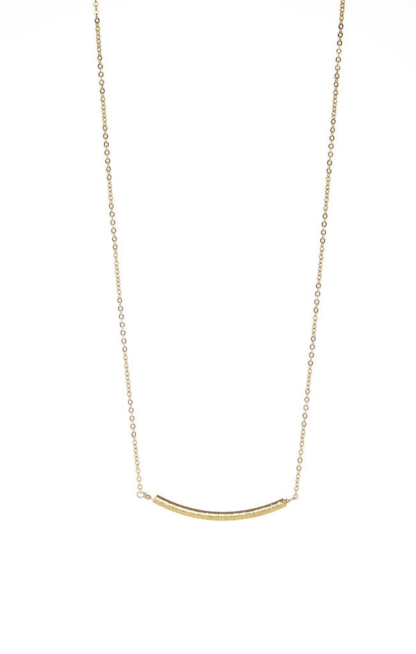 Walk The Line Curve Necklace