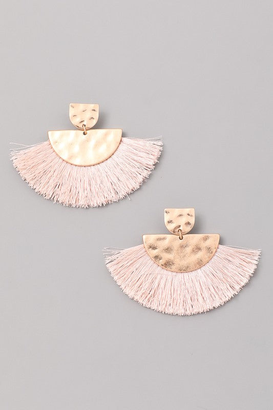 Your Biggest Fan Tassel Earrings