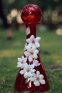 Red Topped Vase