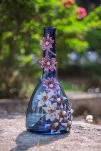 Blue Vase with Beauty