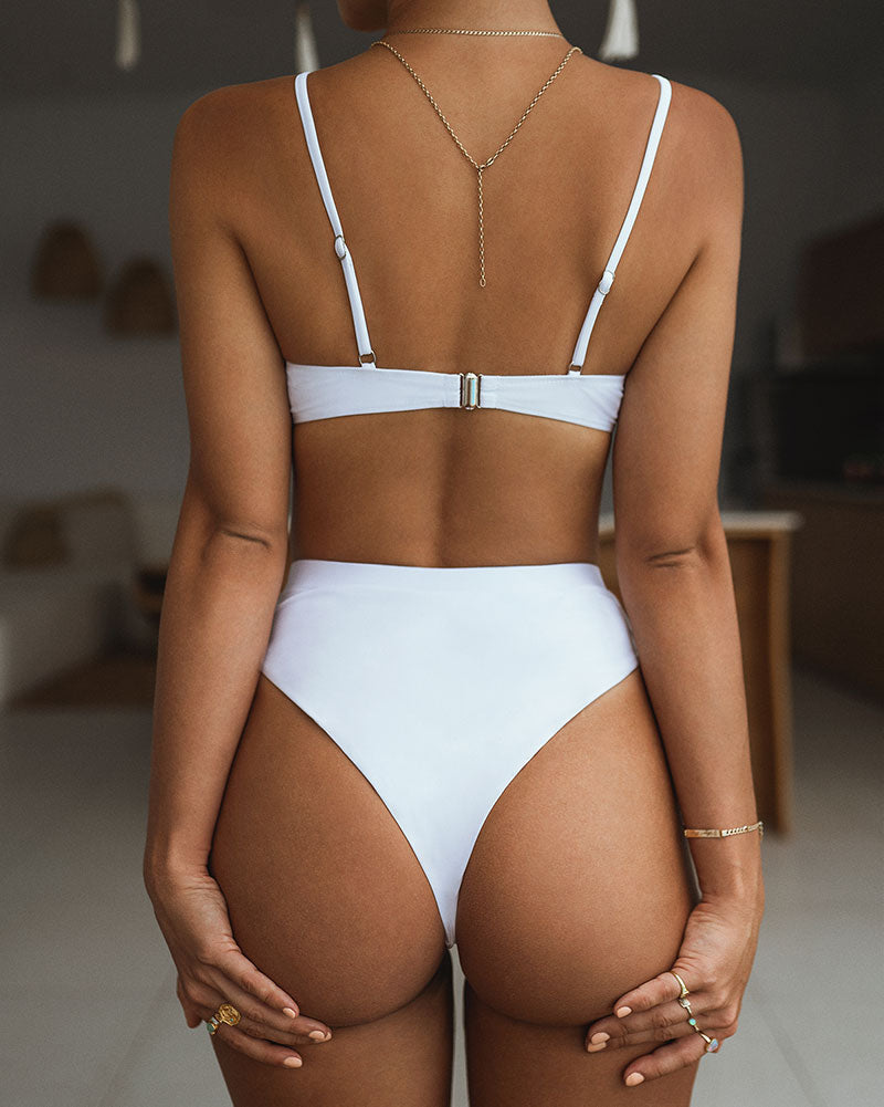 high waist cheeky bikini bottom