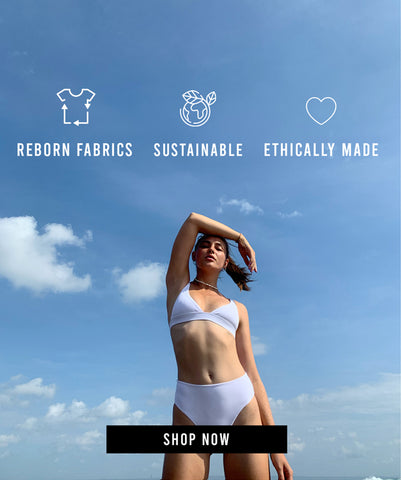 bikinis made from recycled sustainable fabrics and ethically produced