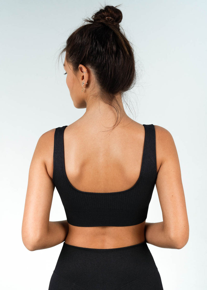 ribbed seamless sports bra