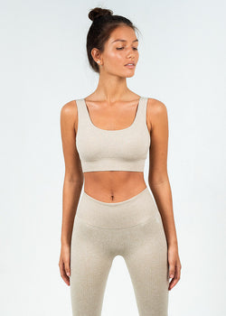 Seamless Ribbed Sports Top