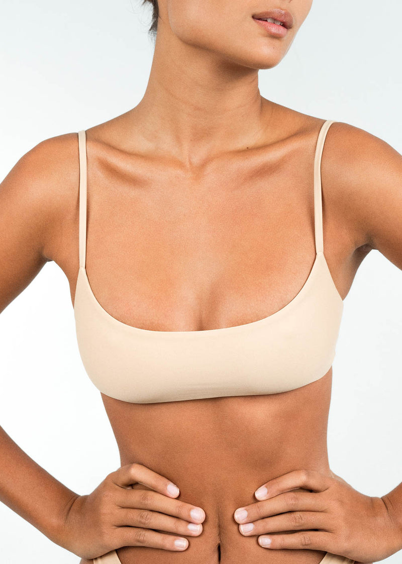 Low Scoop Bandeau bikini top