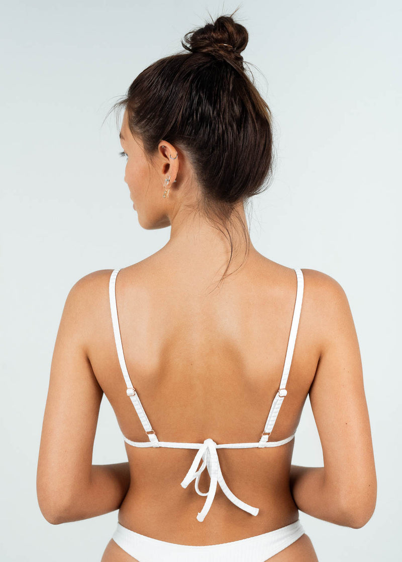 triangle bikini top tie-up back