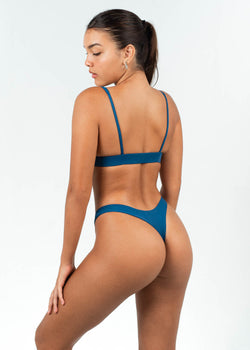 blue high cut bikini set