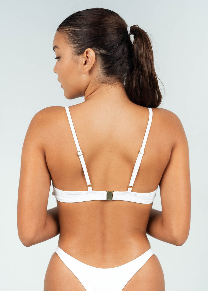 V wire bikini top with back clasp