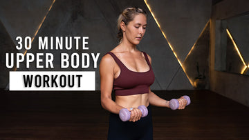 30 Min | Upper Body HIIT With Dumbbells | Arms + Abs Workout