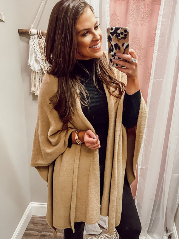 Shiraleah Cozy Wrap - Camel