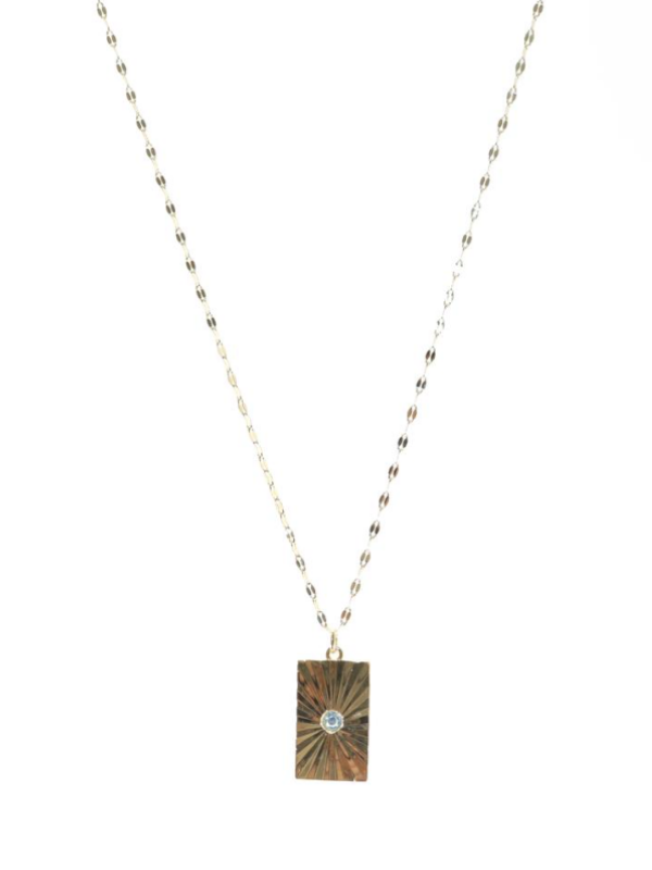 B.b Lila - Quilted Pendant