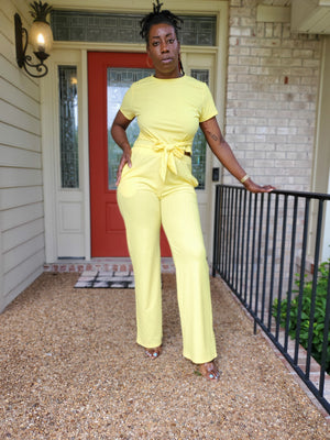 Wrap Top & Wide Leg Pants Set