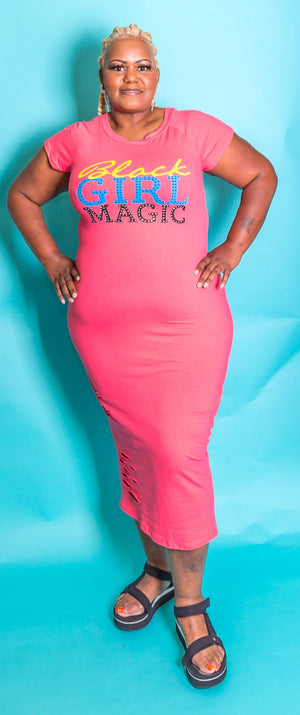 Black Girl Magic Tshirt Dress