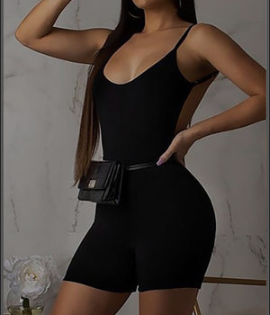 Open back Romper