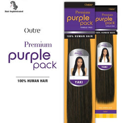 2-PACK DEALS ! Outre Human Hair Weave Premium Purple Pack Yaki, 1, Size 10.0