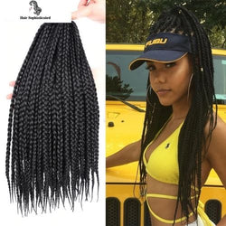New Braiding Hair Extension Crochet Box Braids 22Strands