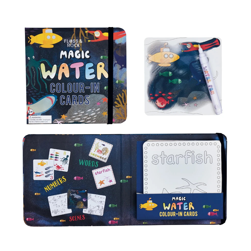 MAGIC COLOUR CHANGING WATER CARDS - DEEP SEA