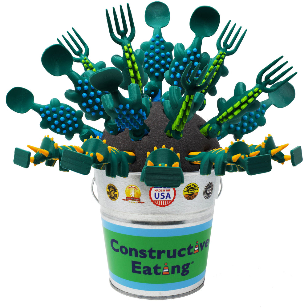 Constructive eating - Set of 3 Dino Utensils - little-yu-boutique - Toy
