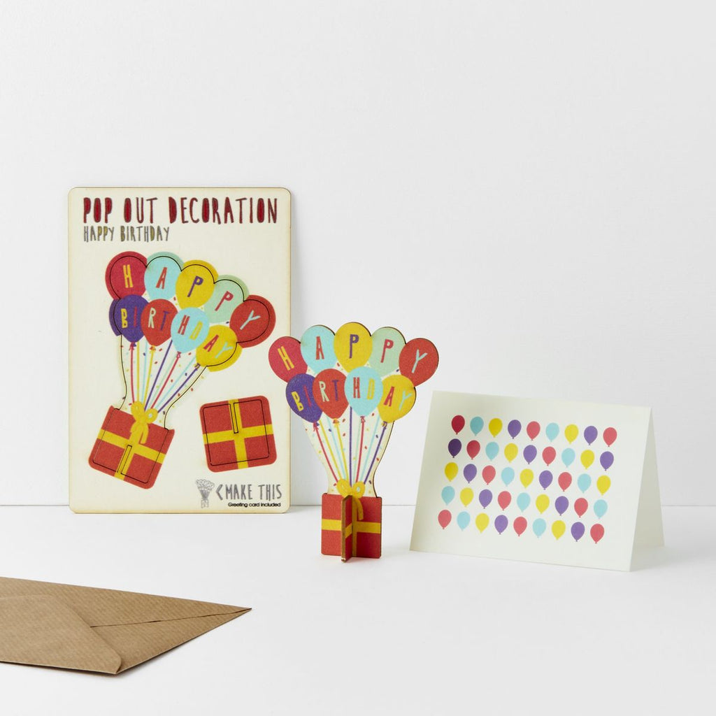POP OUT HAPPY BIRTHDAY BALLOONS CARD
